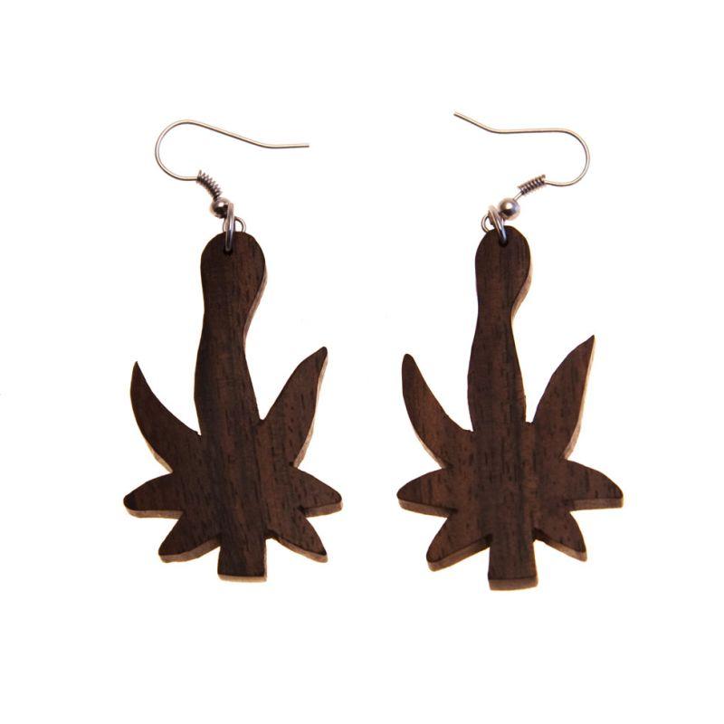 Ohrringe Ganja leaf Indonesia
