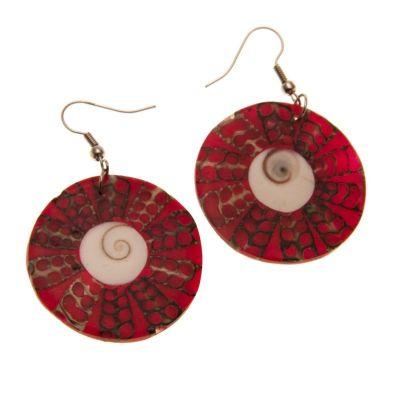 Ohrringe Roter Heiligenschein