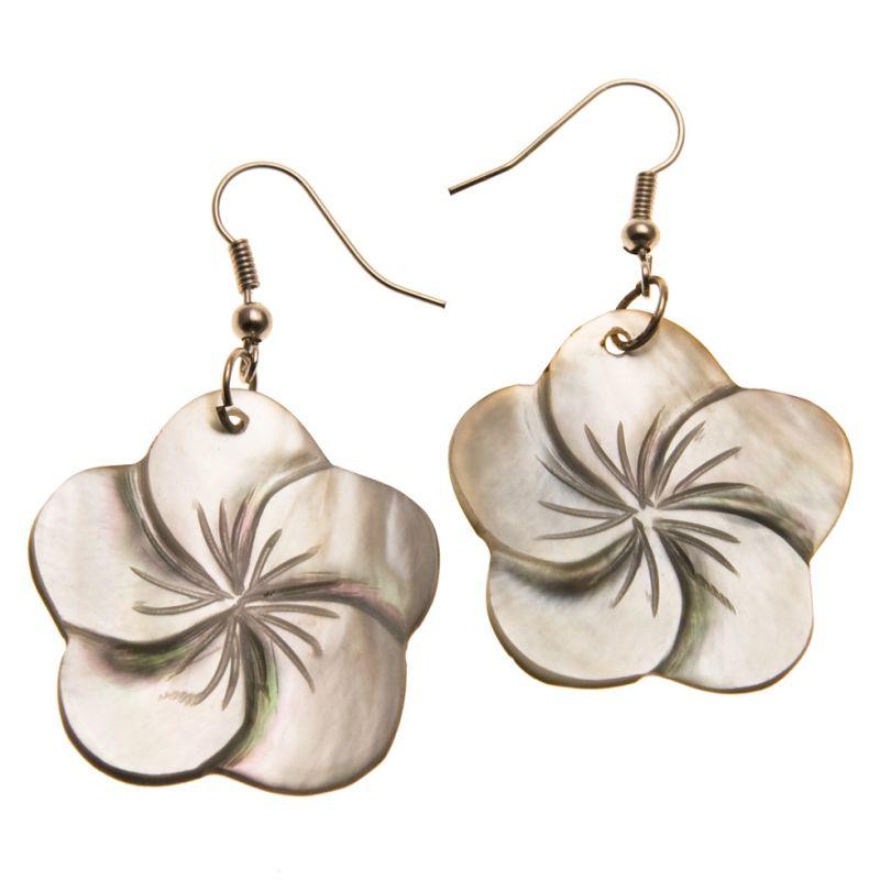Muschel-Ohrringe Pearly BloomPerlenblüte