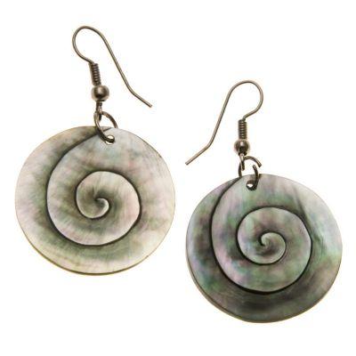 Ohrringe Perlmutt-spirale