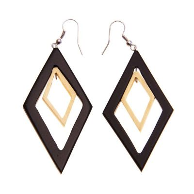 Ohrringe Wooden Diamonds