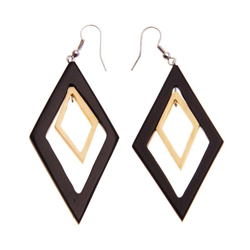 Ohrringe Wooden Diamonds Indonesia