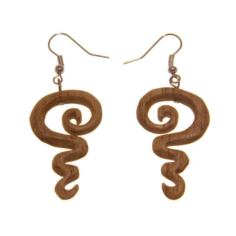 Ohrringe Undulated Spiral Indonesia