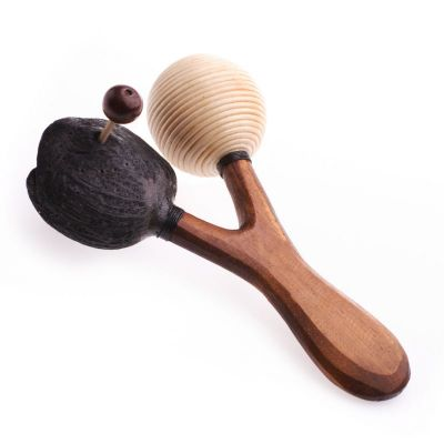Double-headed rattan Maraca