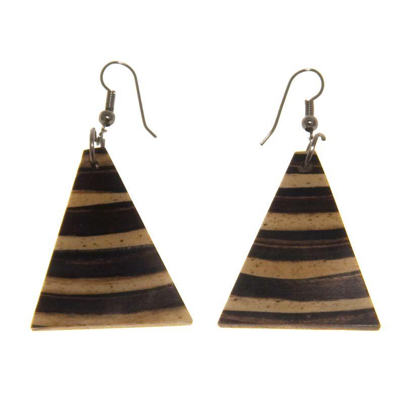 Muschel-Ohrringe Bambus-Glocken Indonesia