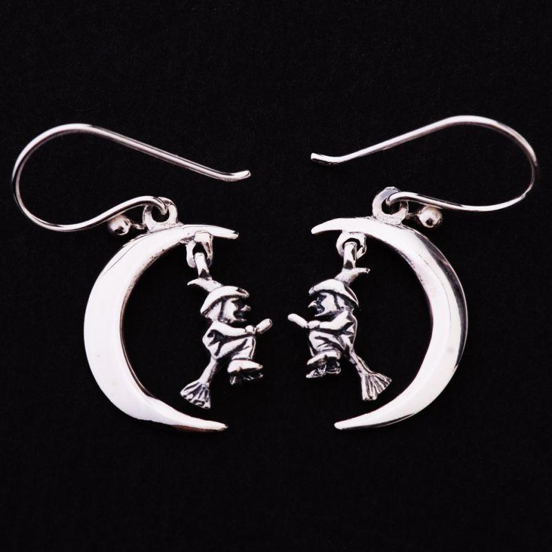 Silber-Ohrringe Liebhaber von Hexerei