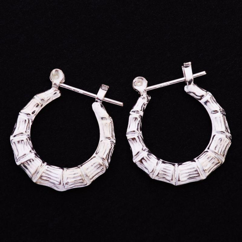 Silber-Ohrringe Spinnennetz-Rand