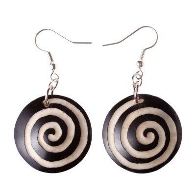 Ohrringe Black&White Spiral