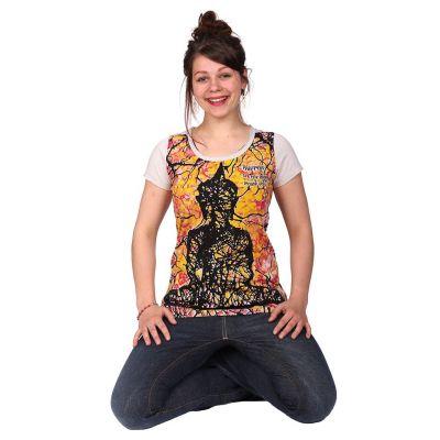 Damen T-Shirt Buddha Beige