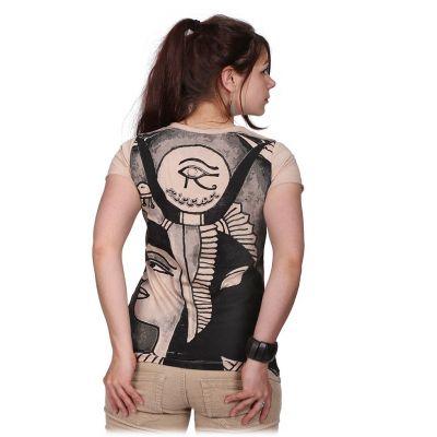 Damen T-Shirt mit kurzen Ärmeln Mirror Cleopatra Beige
