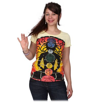 Damen T-Shirt Meditation Yellow