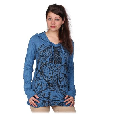 Damen T-Shirt  Angry Ganesh Blue