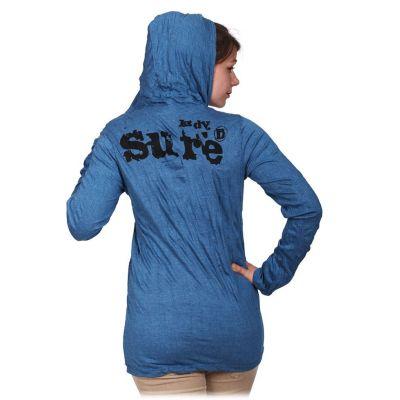 Damen Kapuzen-T-Shirt Sure Angry Ganesh Blue