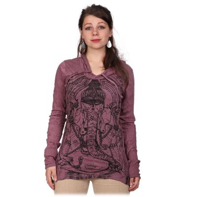 Damen T-Shirt Angry Ganesh Purple