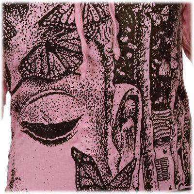 Damen Kapuzen-T-Shirt Sure Buddha's Butterflies Pink