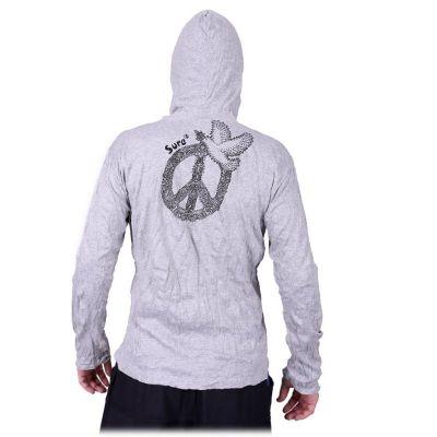 Herren T-shirt Sure mit langen Ärmelnund Kapuze - Dove of Peace