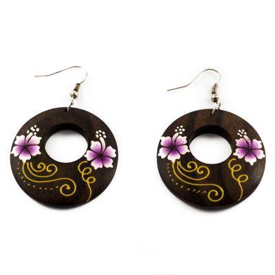 Ohrringe Cute flowers - purple