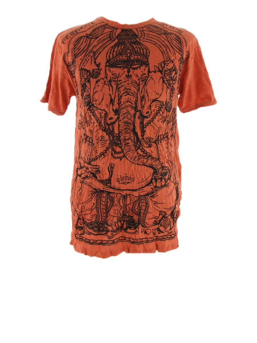 Men's t-shirt Sure Angry Ganesh Orange