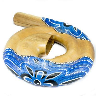 Spiral-Didgeridoo – blau