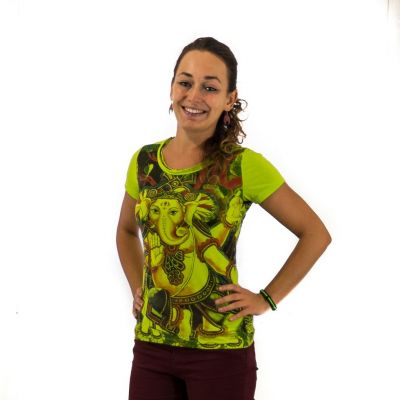 Damen T-Shirt Ganapati Green
