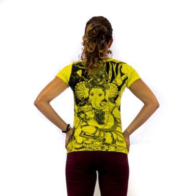 Damen T-Shirt mit kurzen Ärmeln Mirror Ganapati Green