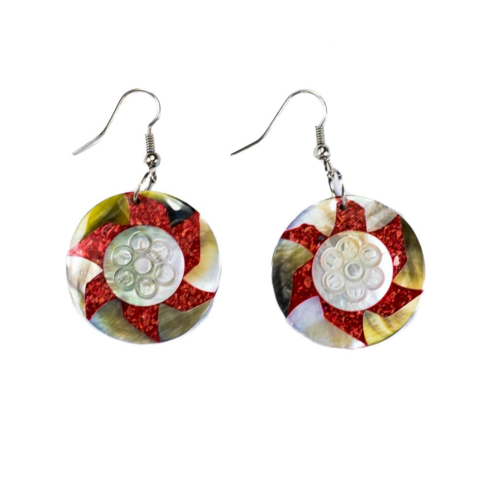 Muschel-Ohrringe Stellar flowerSternblume Indonesia
