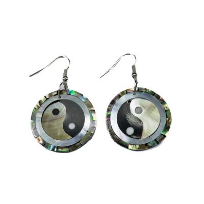 Ohrringe Yin&Yang in einer Perle