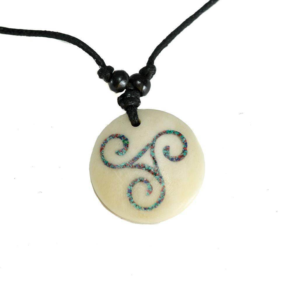 Bone Pendant Celtic spiral - simple