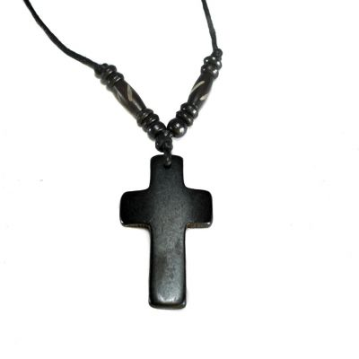 Pendant Cross - black