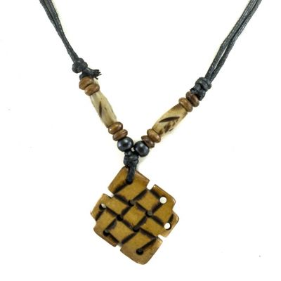 Bone pendant Endless knot