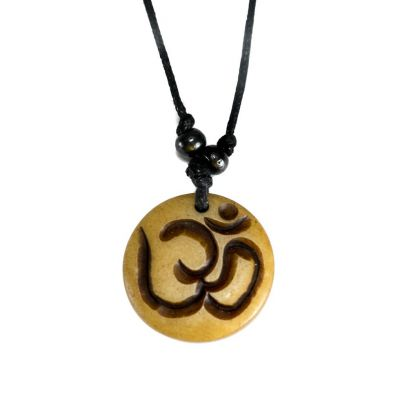 Pendant Om - brown, simple