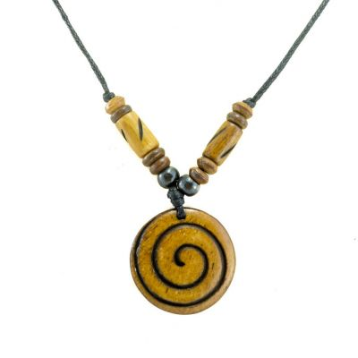 Pendant Spiral - brown
