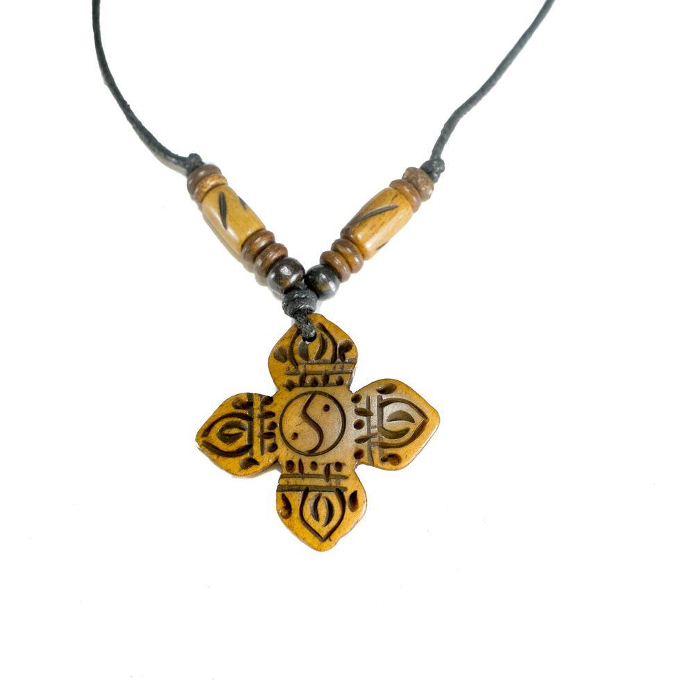 Bone pendant Crossed dordje