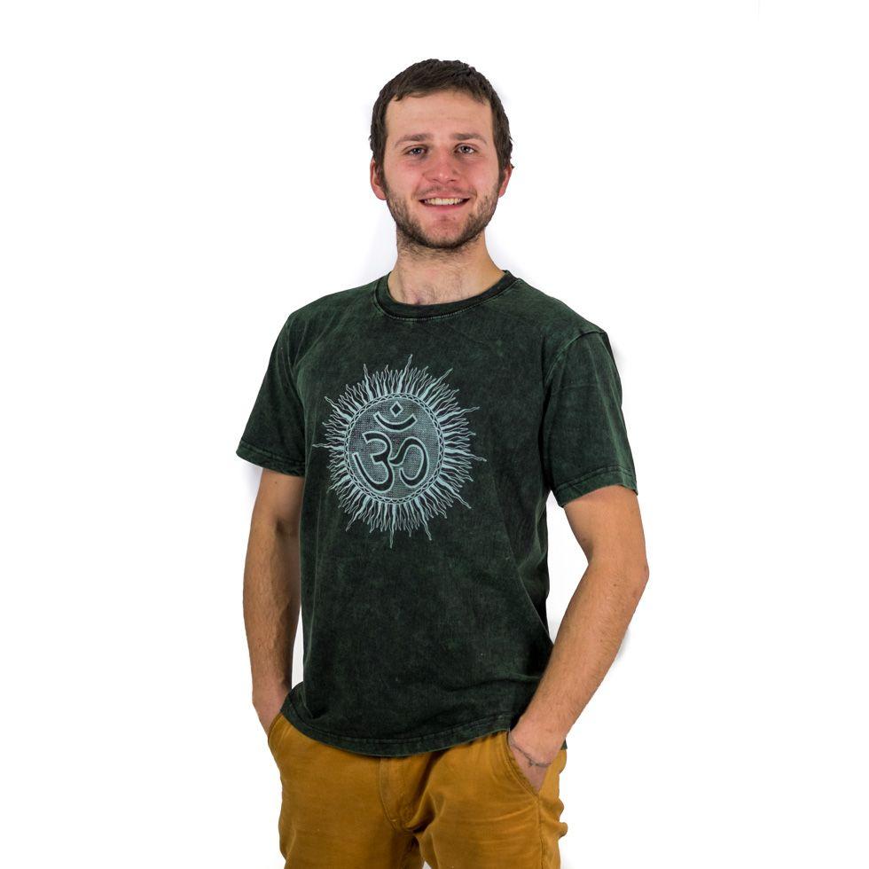 T-shirt Om Senang Green