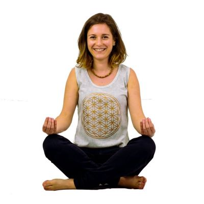Tanktop Flower of Life Grey