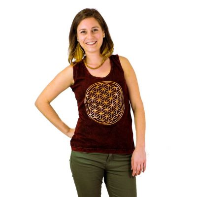 Tanktop Flower of Life Red