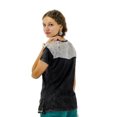 Damen T-Shirt mit kurzen Ärmeln Daya Hitam Nepal