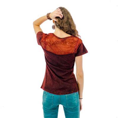 Damen T-Shirt mit kurzen Ärmeln Daya Mawar Nepal