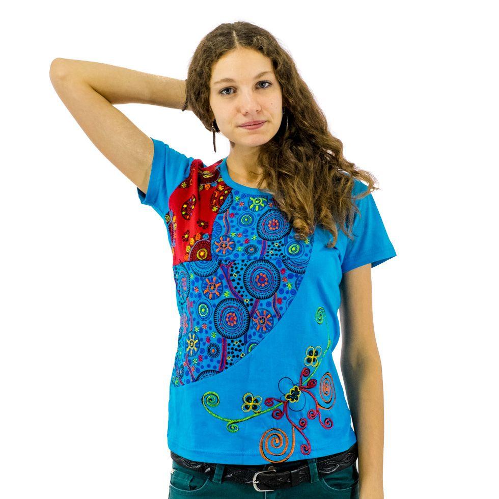 Damen T-Shirt mit kurzen Ärmeln Nagarjun Samudra Nepal