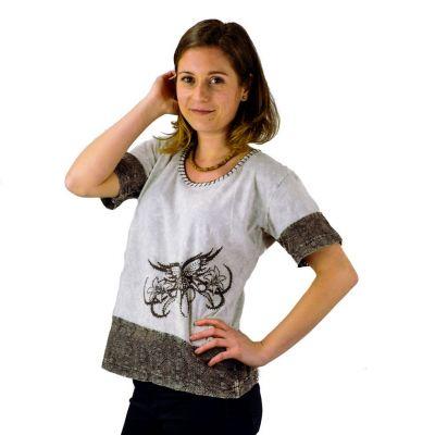 Damen T-Shirt mit kurzen Ärmeln Sudha Kelabu Nepal