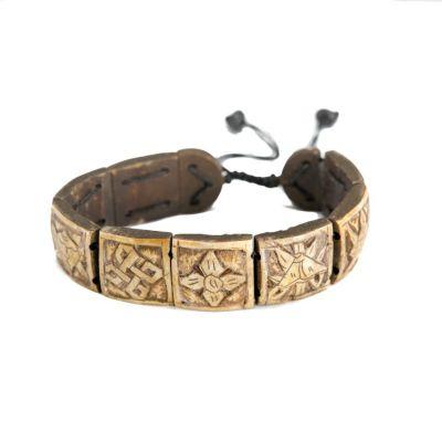 Armband Ashtamangala - square, 3D