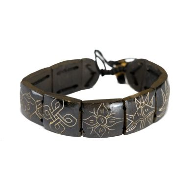 Armband Ashtamangala - square, black