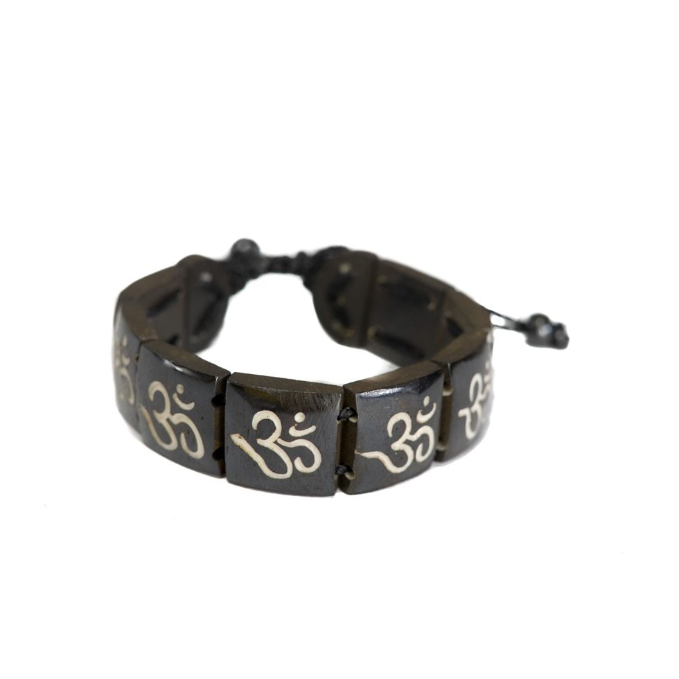 Knochen-Armband Om - square