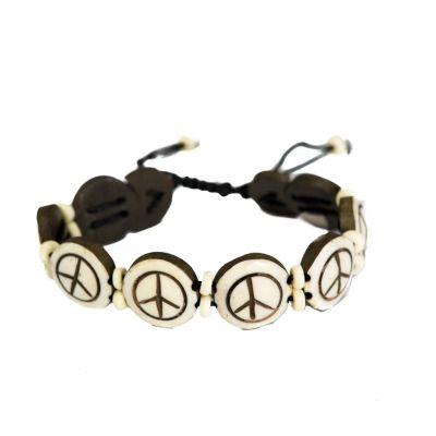 Armband Peace - white