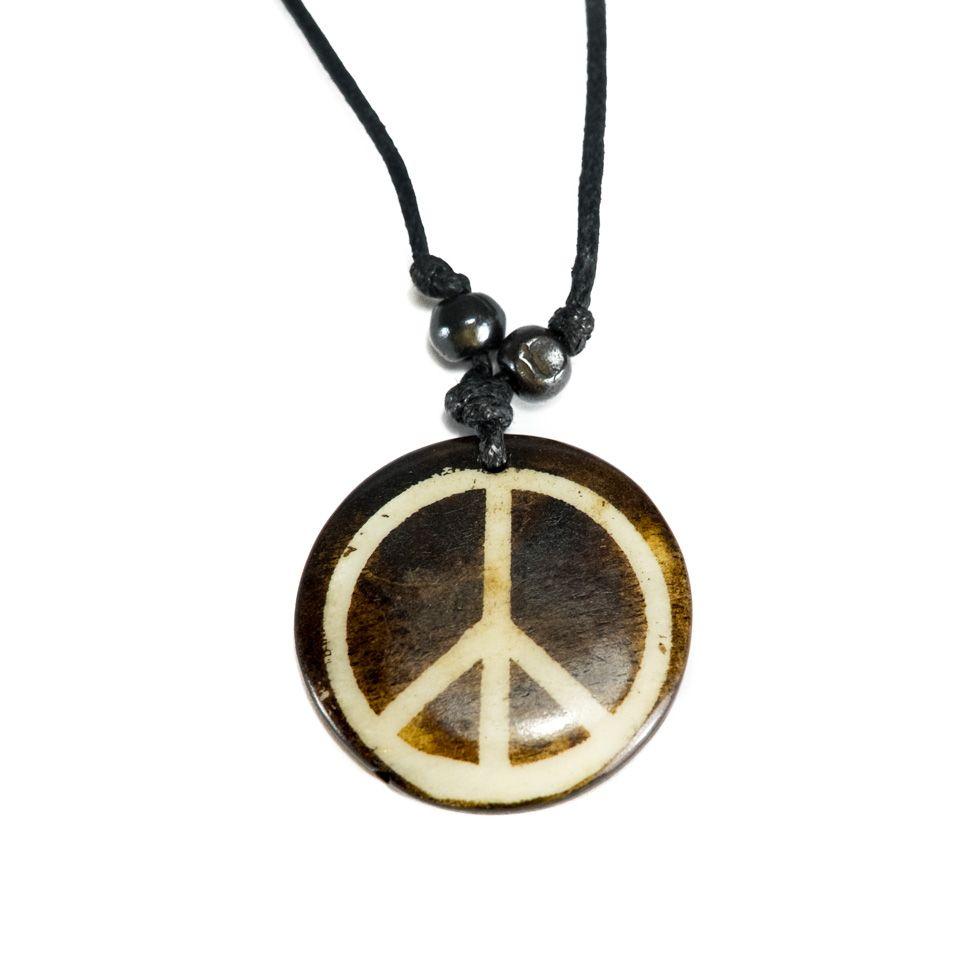 Knochenanhänger Peace - simple