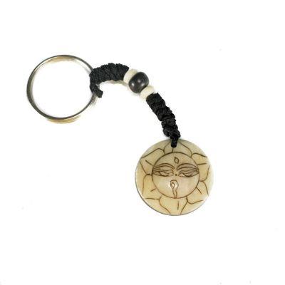 Schlüsselanhänger Buddha's eyes in lotus