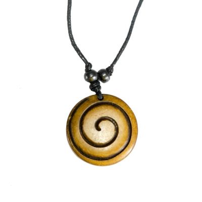 Pendant Spiral - brown, simple