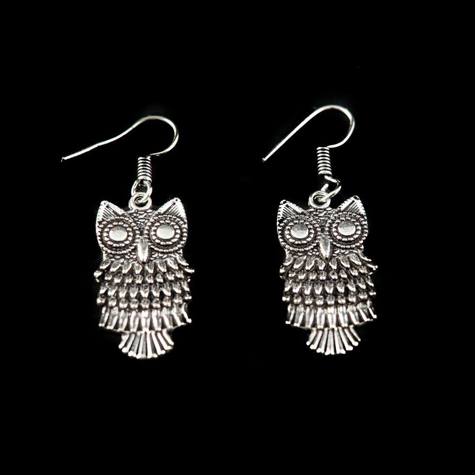 Neusilberohrringe Owls India
