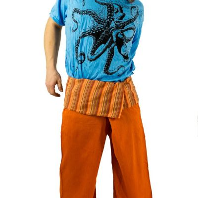 Wickelhose – Fischerhose – orange Nepal