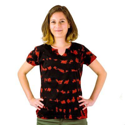 Damen T-Shirt mit kurzen Ärmeln Benita Red Nepal
